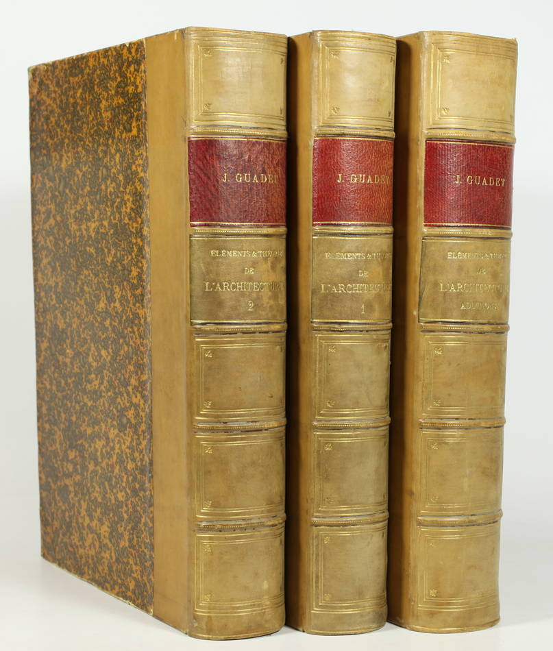 GUADET - Eléments et théorie de l architecture - (1901) - 3 volumes reliés - Photo 0, livre rare du XXe siècle