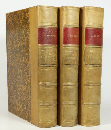 GUADET. Eléments et théorie de l'architecture, livre rare du XXe siècle