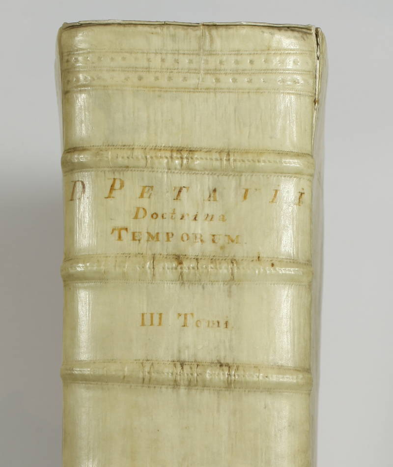 PETAU - Opus de doctrina temporum - 1705 - Plein vélin hollandais - 3 tomes en 1 - Photo 0 - livre rare
