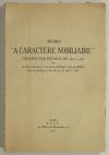 [MONTMORT (Marquis de)]. Noms à caractère nobiliaire obtenus par décrets de 1803 à 1956, avec une liste des noms à caractère nobiliaire omis par Buffin dans sa publication des décrets de 1803 à 1865