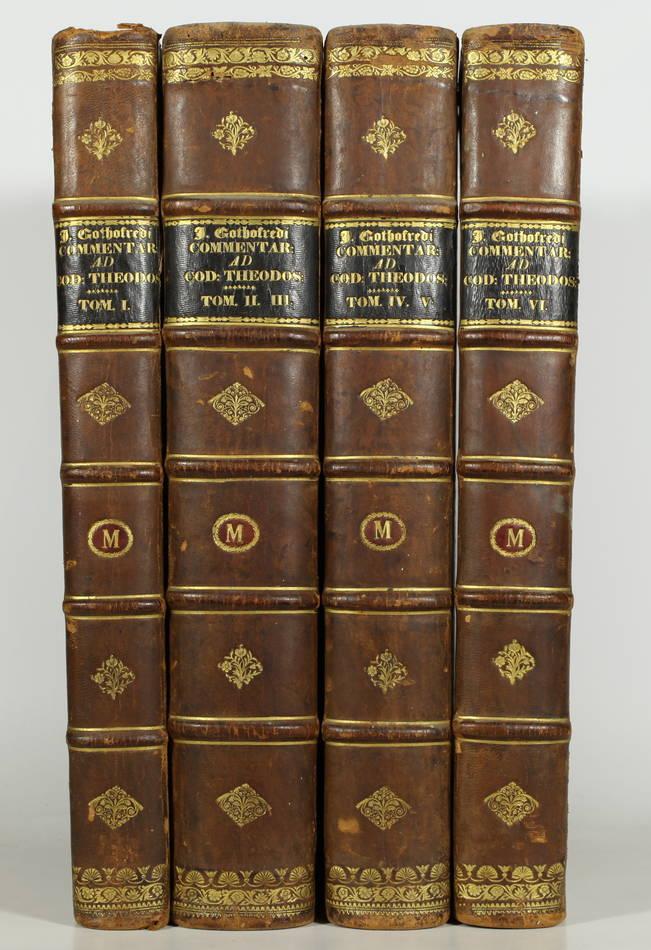 Code Théodosien - 1736- 1745 - 6 tomes reliés en 4 volumes - Rare - Photo 0 - livre de collection