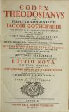Code Théodosien - 1736- 1745 - 6 tomes reliés en 4 volumes - Rare - Photo 1 - livre de collection