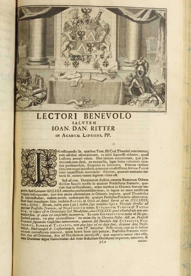 Code Théodosien - 1736- 1745 - 6 tomes reliés en 4 volumes - Rare - Photo 2 - livre de collection