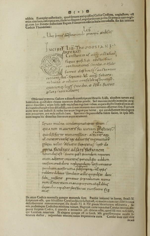Code Théodosien - 1736- 1745 - 6 tomes reliés en 4 volumes - Rare - Photo 3 - livre de collection