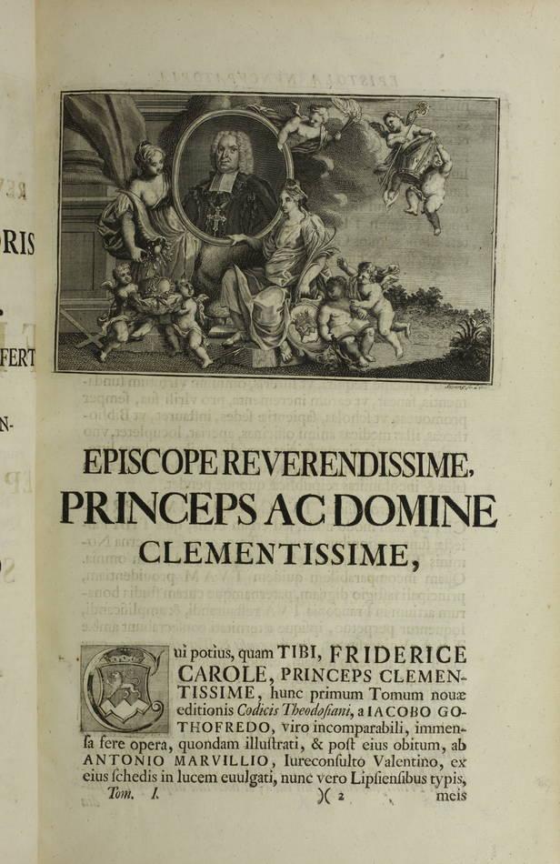 Code Théodosien - 1736- 1745 - 6 tomes reliés en 4 volumes - Rare - Photo 4 - livre de collection