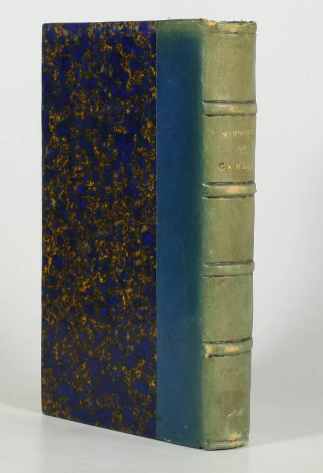 [Empire] Mémoires de Canler, ancien chef du service de sureté - 1865 - Photo 1, livre rare du XIXe siècle