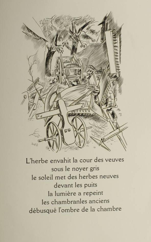 Louis-Joseph Soulas - La gerbe noire - (1935) - Gravures - Bois et burins - 1/85 - Photo 0 - livre moderne