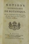 DURANDE - Notions élémentaires de botanique - Académie de Dijon - 1781 - Photo 1, livre ancien du XVIIIe siècle