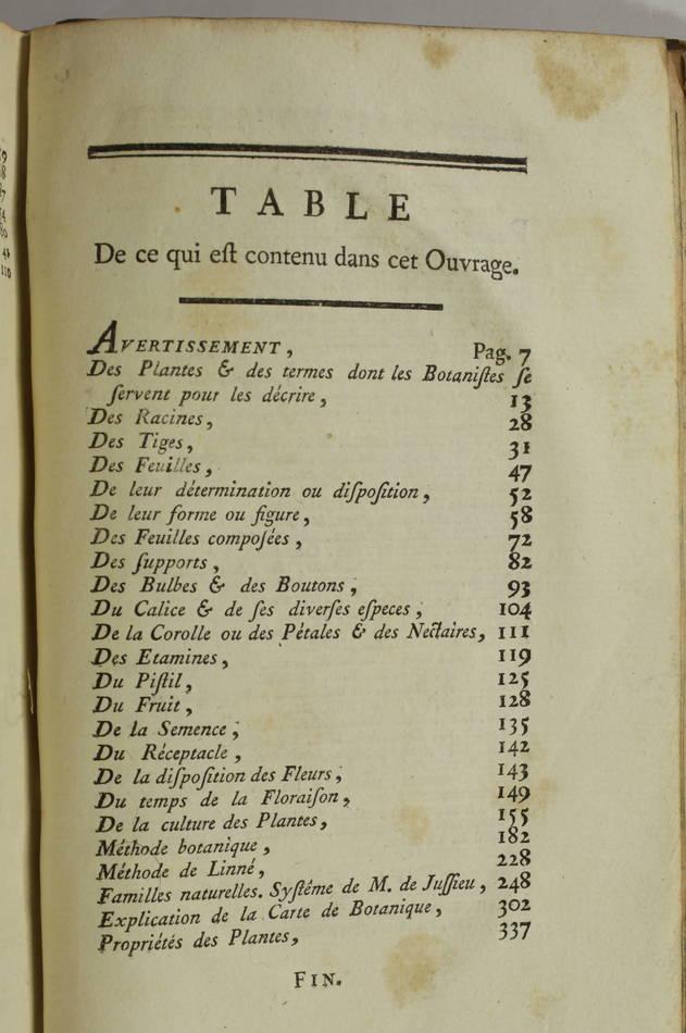 DURANDE - Notions élémentaires de botanique - Académie de Dijon - 1781 - Photo 2, livre ancien du XVIIIe siècle