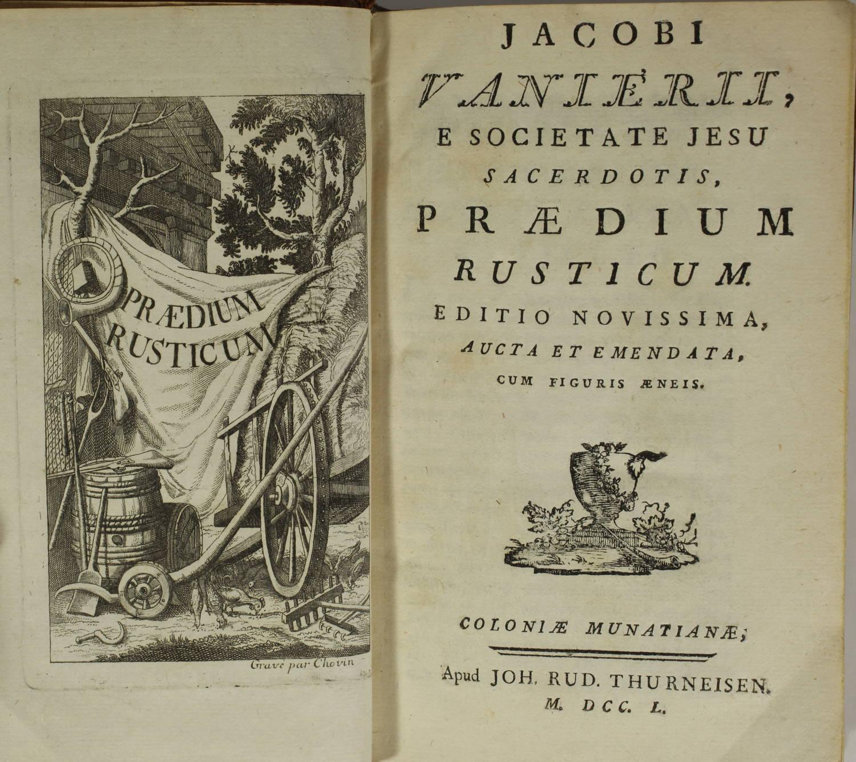 VANIERE - Praedium rusticum - 1750 - 17 gravures - Photo 2, livre ancien du XVIIIe siècle