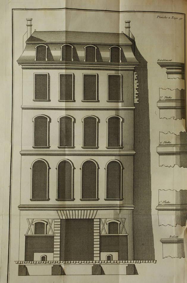 GINET - Toisé général du bâtiment, concernant la maçonnerie ... 1761 - Planches - Photo 0 - livre du XVIIIe siècle
