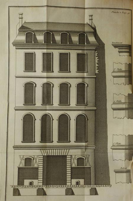 GINET (N.). Toisé général du bâtiment, concernant la maçonnerie en pierres de taille et en moilons, celle des ouvrages légers, c'est à dire ceux faits en plâtre, les saillies d'architecture