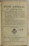 GINET - Toisé général du bâtiment, concernant la maçonnerie ... 1761 - Planches - Photo 3 - livre du XVIIIe siècle