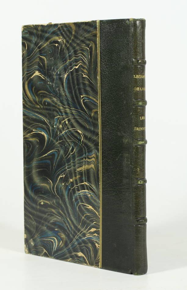 LECONTE DE LISLE - Les Erinnyes - Lemerre, 1873 - EO - 1/2 maroquin - Photo 0 - livre de collection