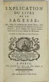 DUGUET et d ASFELD - Explication du livre de la sagesse - 1755 - Photo 1 - livre rare