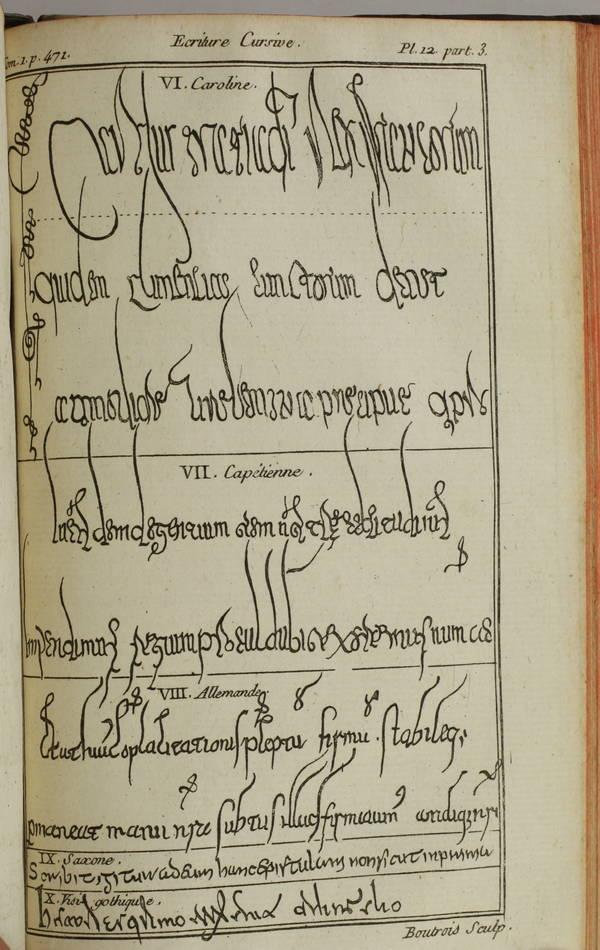 [Ecritures] VAINES - Dictionnaire raisonné de diplomatique 1773 - planches - 2 v - Photo 1, livre ancien du XVIIIe siècle