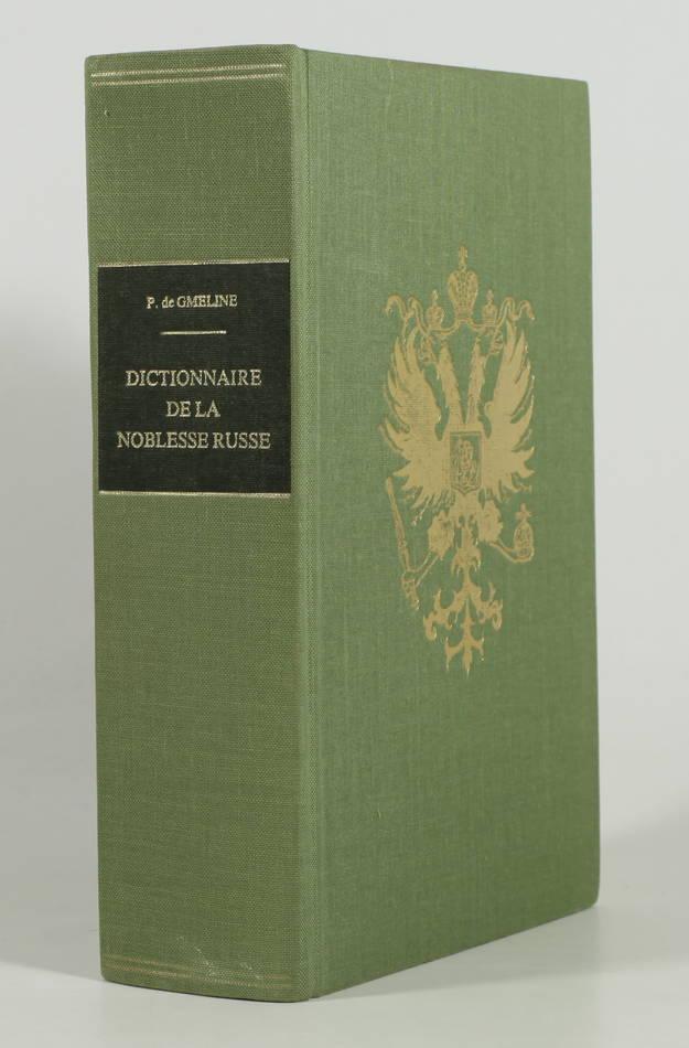 [RUSSIE]GMELINE - Dictionnaire de la noblesse russe - 1978 - Photo 0 - livre rare