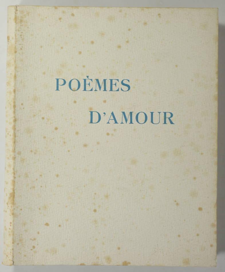 [Curiosa] VERLAINE - Poèmes d amour - 1946 - pointes-sèches en couleurs de Becat - Photo 1, livre rare du XXe siècle