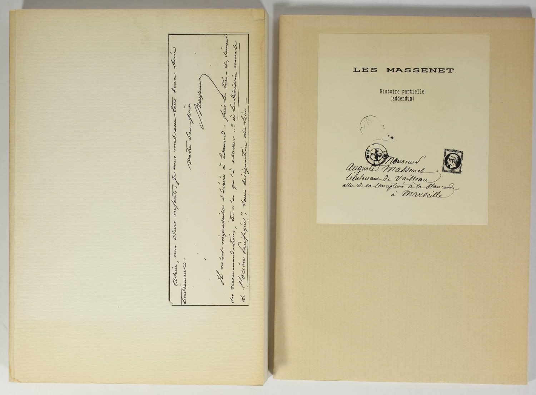 Les Massenet - Histoire partielle - 1989 - 2 volumes - Rare - Photo 0, livre rare du XXe siècle