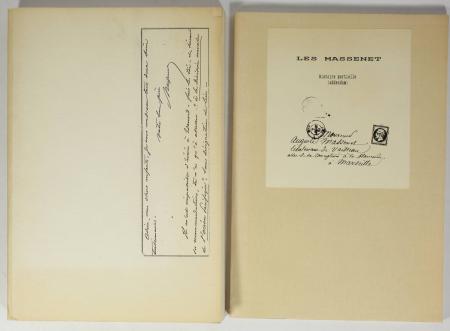MASSENET (Jacques). Les Massenet. Histoire partielle. Souvenirs recueillis par Jacques Massenet, livre rare du XXe siècle