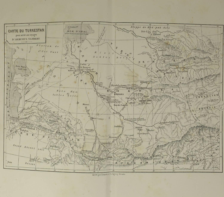 VAMBERY - Voyages d un faux derviche - Asie centrale, Téhéran, Samarcand - 1865 - Photo 5 - livre de bibliophilie