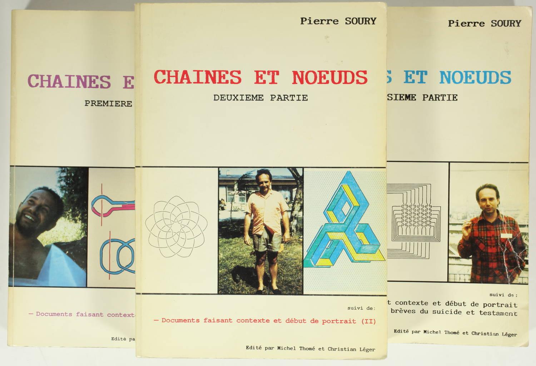 [Mathématiques] Pierre SOURY Chaînes et noeuds - 1986-1988 - Photo 0, livre rare du XXe siècle