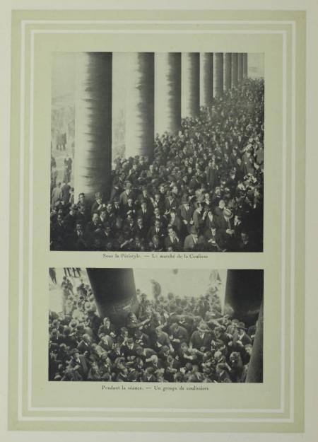 . La Bourse de Paris. Origines et historique. 1826-1926, livre rare du XXe siècle