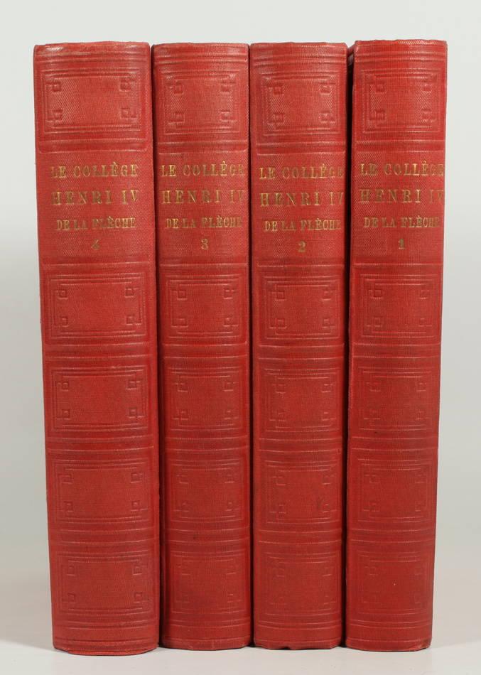 ROCHEMONTEIX - Le collège Henri IV de la Flèche - 1889 - 4 volumes - Planches - Photo 0, livre rare du XIXe siècle