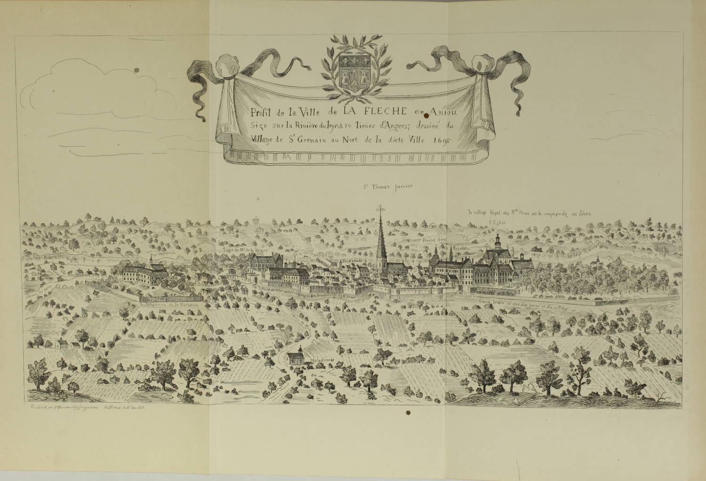 ROCHEMONTEIX - Le collège Henri IV de la Flèche - 1889 - 4 volumes - Planches - Photo 1, livre rare du XIXe siècle