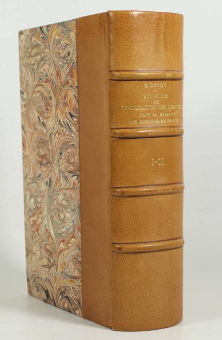 DRUON (H.). Histoire de l'éducation des princes dans la maison des Bourbons de France, livre rare du XIXe siècle