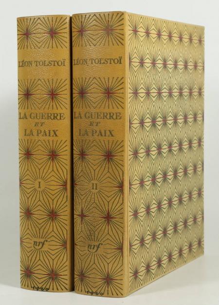 TOLSTOI - La guerre et la paix 1960 - Edy Legrand - 2 volumes - cartonnage Bonet - Photo 0, livre rare du XXe siècle