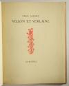VALERY - Villon et Verlaine - 1937 - EO - Bel exemplaire relié - Photo 1, livre rare du XXe siècle