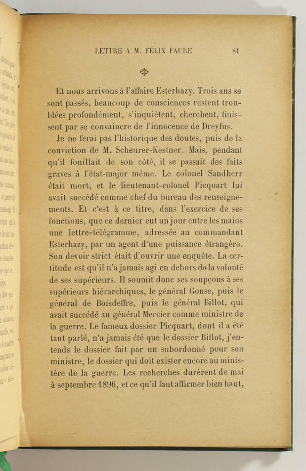 ZOLA - L affaire Dreyfus - La verité en marche - 1901 - EO - Photo 4, livre rare du XXe siècle