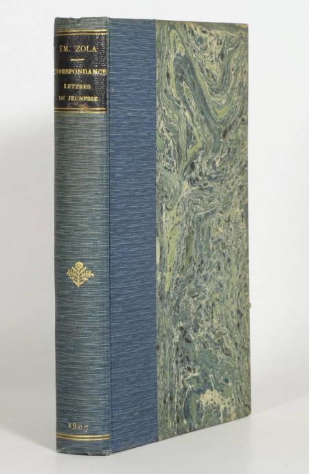 ZOLA (Emile). Correspondance. Lettres de jeunesse, livre rare du XXe siècle