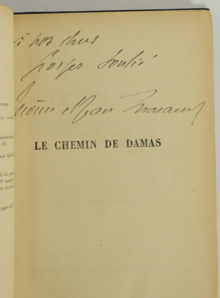 THARAUD (Jérôme et Jean). Le chemin de Damas, livre rare du XXe siècle