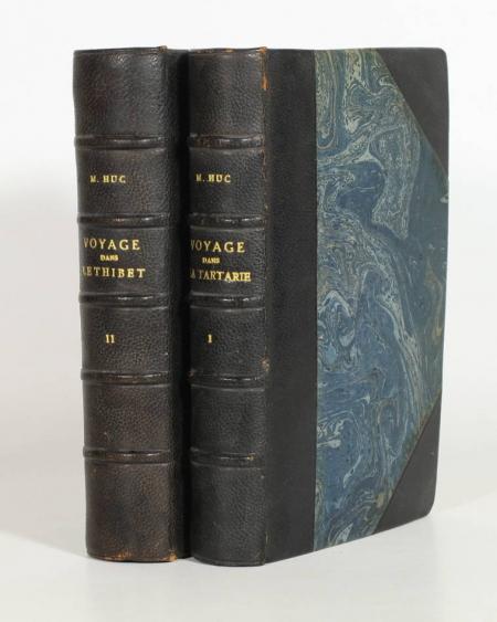 HUC (Evariste). Souvenirs d'un voyage dans la Tartarie, le Thibet, et la Chine pendant les années 1844, 1845 et 1846, livre rare du XIXe siècle