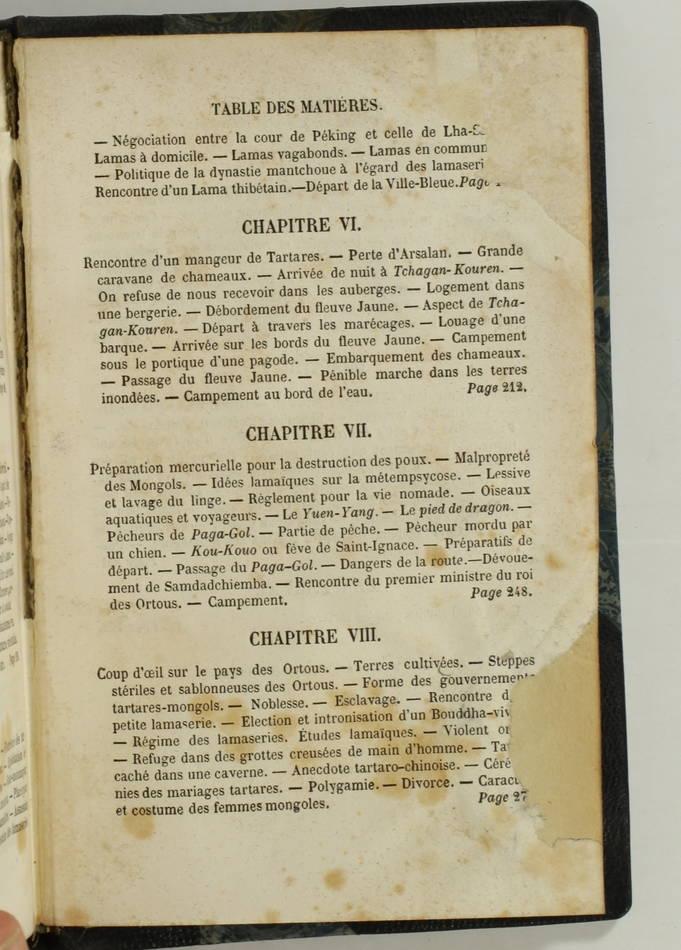 HUC - Souvenirs d un voyage dans la Tartarie, le Thibet, et la Chine 1853 - 2 v - Photo 3, livre rare du XIXe siècle