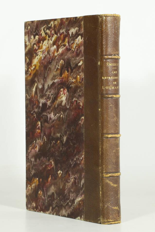 EMERSON - Les représentants de l humanité - 1863 - Photo 0, livre rare du XIXe siècle