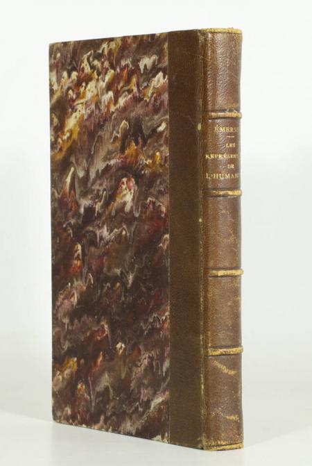 EMERSON (R. W.). Les représentants de l'humanité, livre rare du XIXe siècle