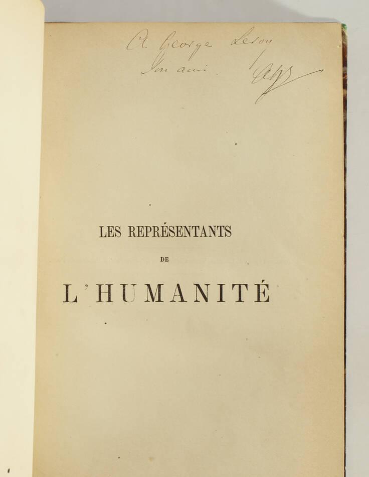 EMERSON - Les représentants de l humanité - 1863 - Photo 2, livre rare du XIXe siècle