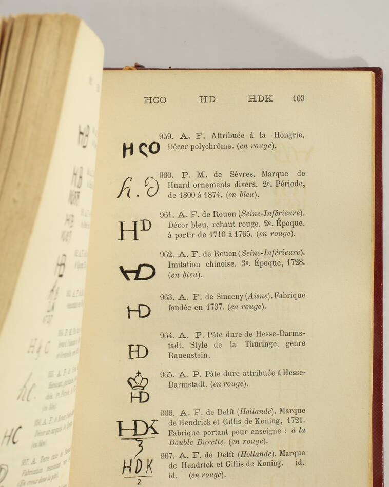RIS-PAQUOT - Dictionnaire des marques et monogrammes - Poteries - 1879 - Photo 0, livre rare du XIXe siècle