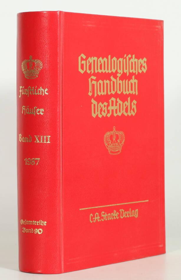 Genealogisches Handbuch des Adels. Band 90 der Gesamtreihe - Handbuch der 1987 - Photo 0, livre rare du XXe siècle