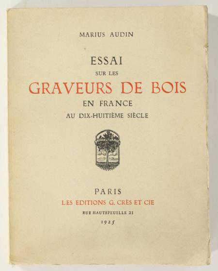 AUDIN (Marius). Essai sur les graveurs de bois en France au dix-huitième siècle, livre rare du XXe siècle