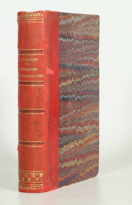 LALANNE (Ludovic). Curiosités bibliographiques, livre rare du XIXe siècle