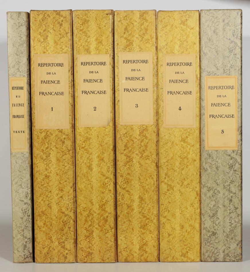 CHOMPRET - Répertoire de la faïence française - 1935 - 6 volumes in-folio - Photo 0, livre rare du XXe siècle
