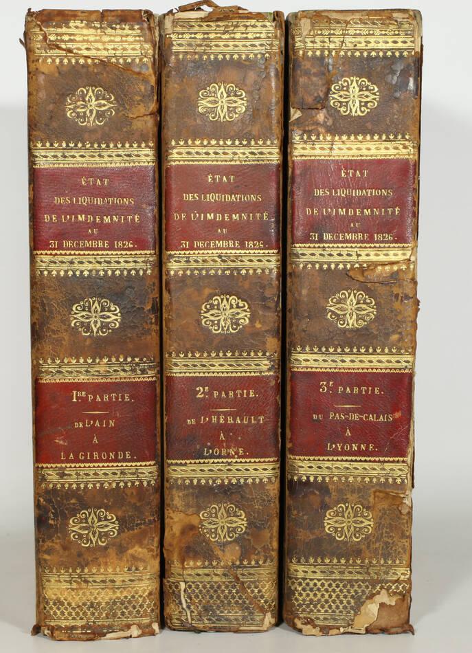 Emigrés - Anciens propriétaires de biens confisqués pendant la Révolution - 3 v - Photo 0, livre rare du XIXe siècle