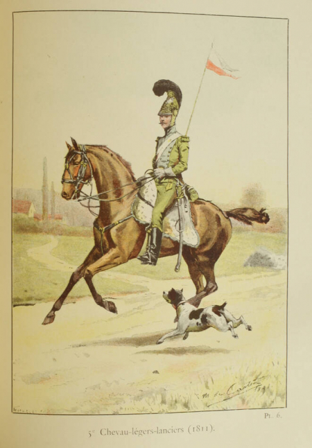 OLLONE (Lieurenant d'). Historique du 10e régiment de dragons, livre rare du XIXe siècle