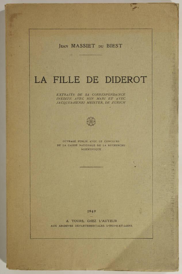 La fille de Diderot - Extraits de sa correspondance inédite - 1949 - Photo 0, livre rare du XXe siècle