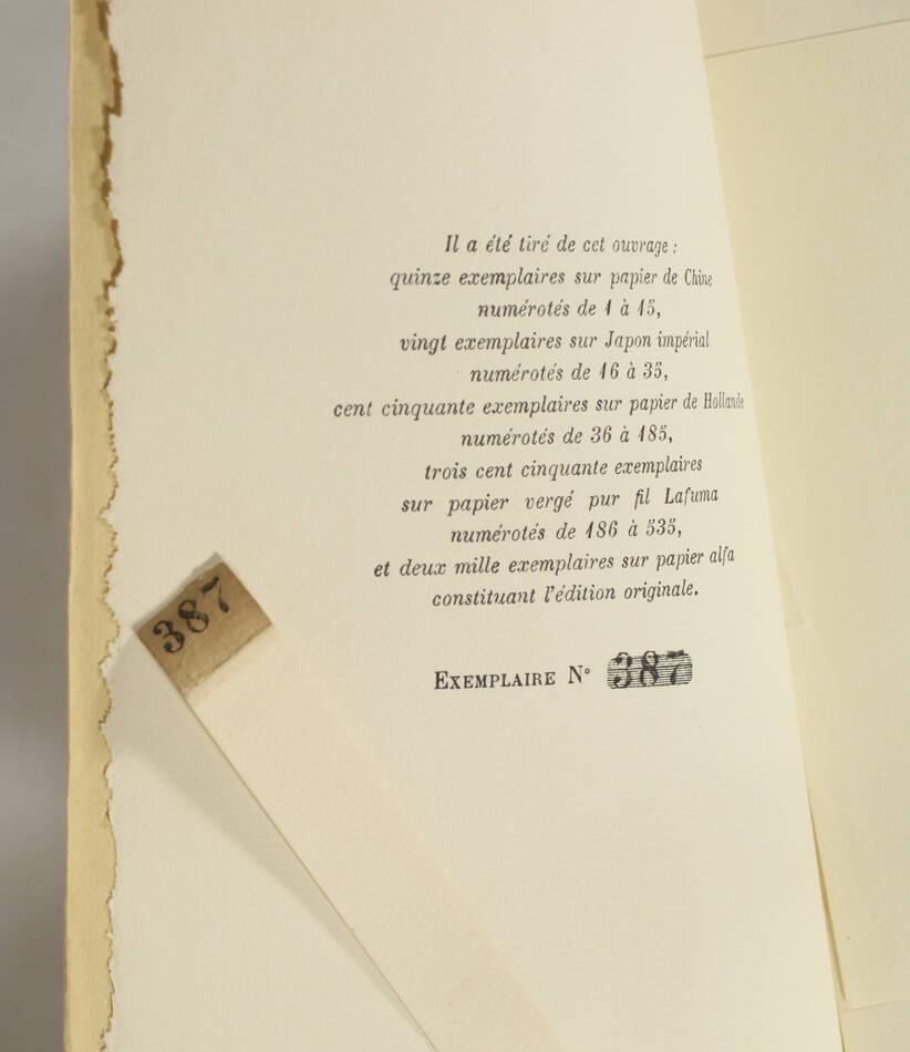 Claude FARRERE  - Le chef  - 1930 - EO - 1/350 vergé pur fil Lafuma - Photo 0, livre rare du XXe siècle