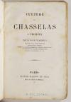 CHARMEUX (M. Rose). Culture du chasselas à Thomery